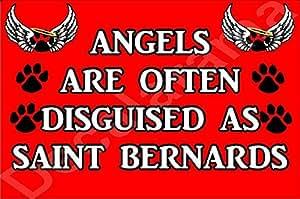Los ángeles son a menudo disfrazado de San Bernardo del imán del refrigerador de Regalo Ideal/regalo cachorro de perro