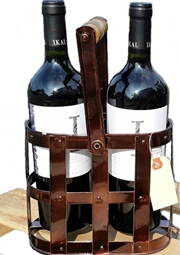 Van's Gifts Handcrafted from Iron Wine Caddy - 2 Bottle Holder (Dark Antique Copper) by Van's Gifts
