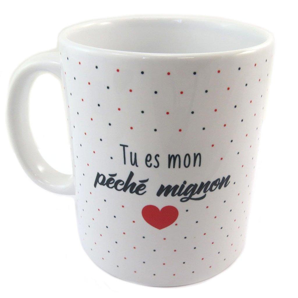 Les Tr/ésors De Lily Tu ES Mon P/éch/é Mignon P8500 - Mug c/éramique Messages