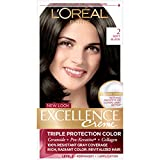 soft black hair color - L'Oréal Paris Excellence Créme Permanent Hair Color, 2.0 Soft Black