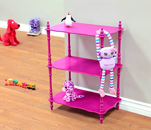 Frenchi Home Furnishing Kid's 3-Tier Shelves, Purple Kids Home Furnishings