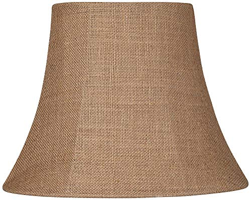 Natural Burlap Small Oval Lamp Shade 6/8x11/14x11 (Spider) - Brentwood