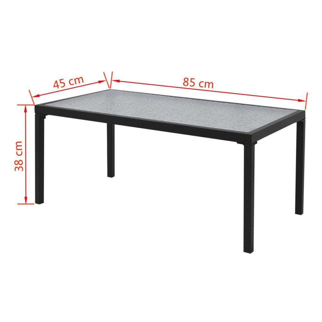 vidaXL Conjunto de Muebles de Jard/ín Incluye 4 Piezas con Banco de Color Negro