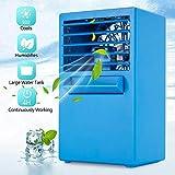 LHGYA Air Conditioner Mini Portable, Personal Space Air Cooler Super Quiet Desktop Cooling Mini Air Circulator Blue