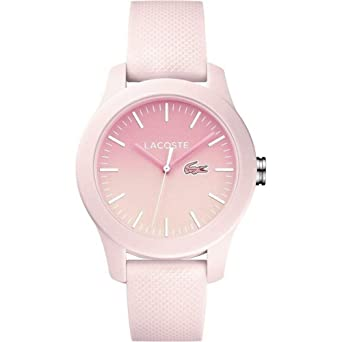Lacoste Womens L.12.12. Quartz Resin and Silicone Casual Watch, Color