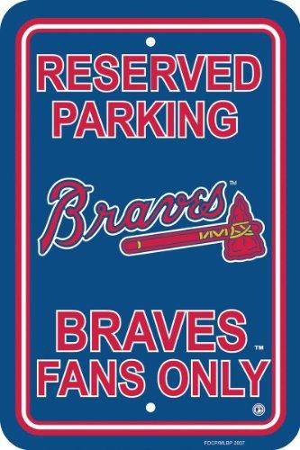 MLB Atlanta Braves Plastic Parking Sign