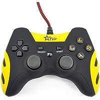 Controle Joystick Com Fio Usb Ps3 Pc Smash Feir 218a Amarelo