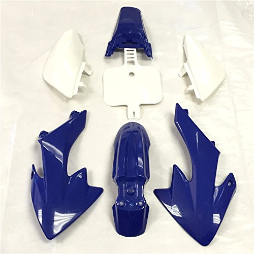 HK Group Motorctcly Blue Plastic Fender Kit Body Work Fairing Kit For Honda CRF XR XR50 CRF50 Clone 125CC Pit Dirt Bike