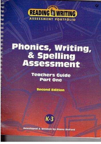 - Phonics, Writing, & Spelling Assessment Teacher's Guide Part One K-3, Doinie Reading & Writing
