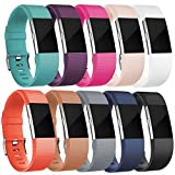 For Fitbit Charge 2 HR,10-Pack Bands, Large, Classic Replacement Wristband for Fitbit Charge 2 HR