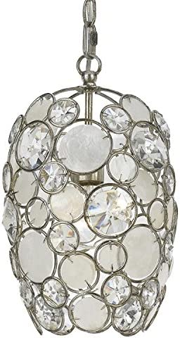 Crystorama 523-SA Crystal Accents Mini Chandelier from Palla collection in Pwt, Nckl, B S, Slvr.finish,