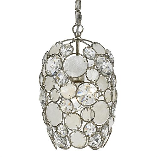 Crystorama 523-SA Crystal Accents Mini Chandelier from Palla collection in Pwt, Nckl, B/S, Slvr.finish, ()