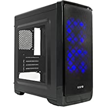 "VIVO Micro-ATX ""SMART"" Mid Tower Computer Gaming PC Case Black / 5 Fan Mounts, USB 3.0 Port (CASE-V06)"