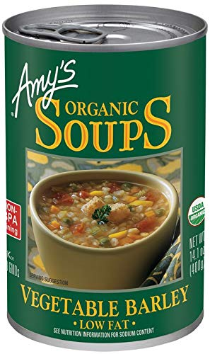 Amy's Organic Vegetable Barley Soup, Low Fat, Vegan, 14.1-Ounce