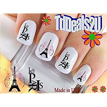 Amazon Country Flags I Love Paris Nail Decals Waterslide