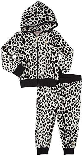 Juicy Couture Little Girls' Printed Jog Set (Toddler/Kid) - Black Leopard - 2T