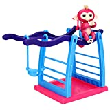 Billila Jungle Gym Swing Stent For Fingerlings Baby Monkey Playset Interactive Climbing Stand Playground ( (A)