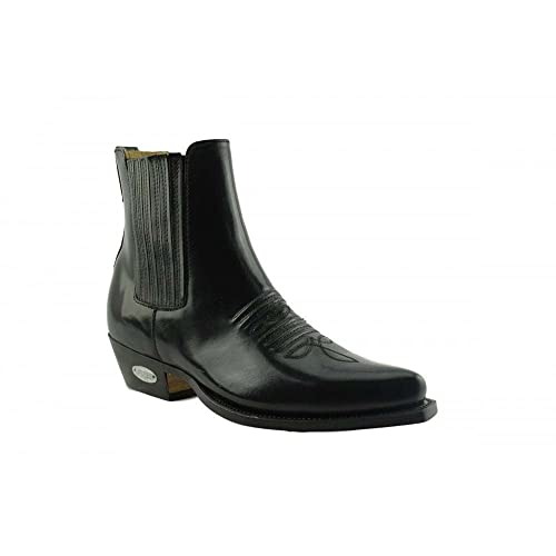 a61ed5e524d Loblan 298 Black High Shine Leather Cowboy Western Boots Clelsea ...