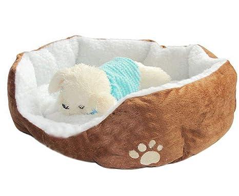 SELUXU Impermeable Super cálido Suave vellón Cachorro Mascotas Perro Gato Cama casa Cesta Nido Mat