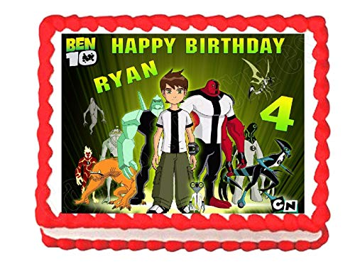 Cakes for Cures Ben 10 Edible Edible Cake Topper Frosting Sheet Decoration - Personalized Free ()