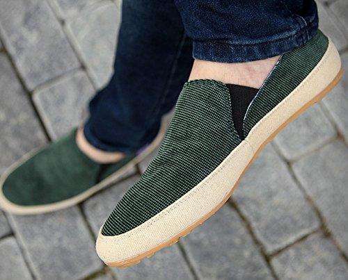 Hw-varer Menns Lerret Mote Joggesko Vintage Stil Uformell Slip-on Dagdriver  Grønn