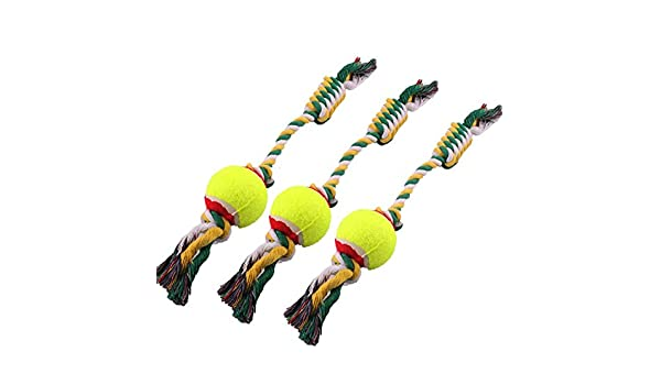 Amazon.com : dds5391 Comfortable And Lovely Pet Favorite Puppy Dog Cat Pet Chew Ball Knotted Cotton Braided Rope Teeth Clean Play Toy : Pet Supplies