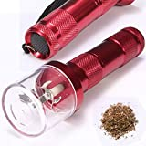Electric Allloy Metal Grinder Crusher Crank Tobacco Smoke Spice Herb Muller Red