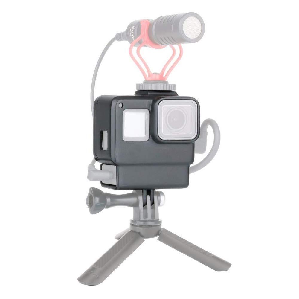 Micr/ófono Led Soporte de Extensi/ón de luz de Video Compatible para dji OSMO 2//Zhiyun Smooth 4//Feiyu Vimble 2 Gimbal Ulanzi PT-3 3 en 1 Triple Zapata Fr/ía Placa de Montaje