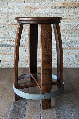Magnificent Amazon Com Wine Barrel Counter Or Bar Stool Red Mahogany Ncnpc Chair Design For Home Ncnpcorg