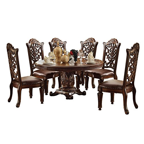 ACME Vendome Cherry Dining Table (Furniture Table Cherry Acme)