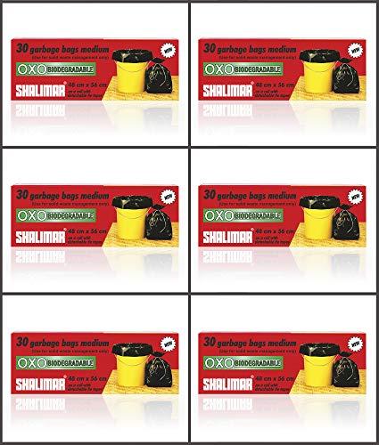 Shalimar Premium OXO - Biodegradable Garbage Bags (Medium) Size 48 cm x 56 cm 6 Rolls (180 Bags) (Black Colour) 3