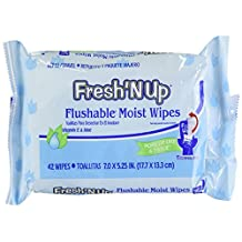 Rockline Industries Fresh N' up Adult Moist Toilet Tissue, Travel/Refill Pop-Up Dispensing, 42-Count Packages (Pack of 12)