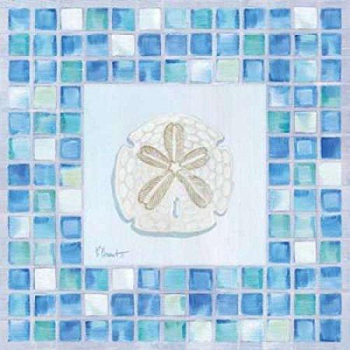 - Posterazzi Mosaic Sanddollar Poster Print by Paul Brent, (12 x 12)