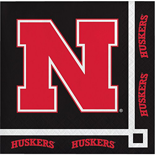 20-Count Paper Beverage Napkins, University of Nebraska