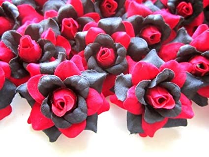 Amazon 24 red roses silk flower head 175 artificial 24 red roses silk flower head 175 artificial flowers heads fabric floral mightylinksfo