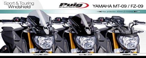 Windscreen Puig Tour Yamaha MT-09 13-16 dark smoke