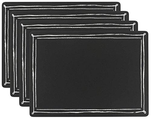 Now Designs Cork-Backed Placemat, Set of 4 - Set of 4 matching placemats Made of sealed hardboard with cork backing Each placemat measures 115 by 1575-inch - placemats, kitchen-dining-room-table-linens, kitchen-dining-room - 51WZYCbqFeL -