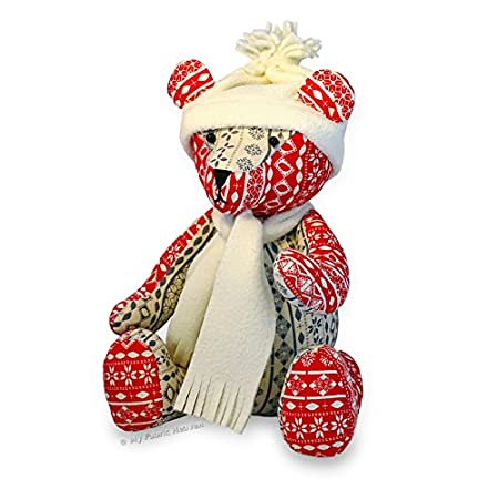 Soft Toy Sewing Pattern Independent Design 13 Inch Fabric Christmas