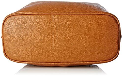 LOLA CASADEMUNT Bolso marron acabado trenzado - Bolso de hombro para mujer, color unico, talla Única