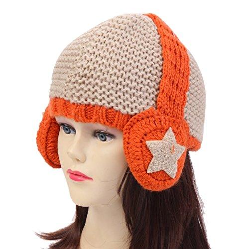Damara Double Layers Earflap Bomber Hats Warm Caps,Khaki