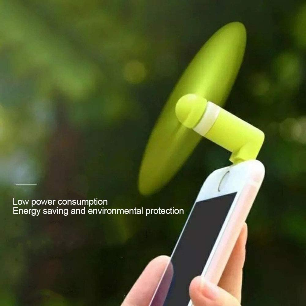 @W.H.Y USB Portable Mobile Power Small Fan Light Meter Computer Charging Bao Ping Fruit Android Two-in-One Phone,A