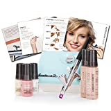Luminess Air Aqua & White Legend Airbrush System with 5-Piece Deluxe Airbrush Foundation & Cosmetic Starter Kit, Shade Medium