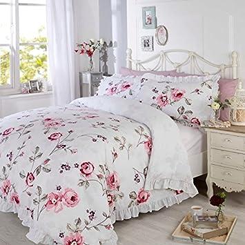 Bettwäsche Set Arabella Mit Gestepptem Bettbezug Rosenmuster Mit