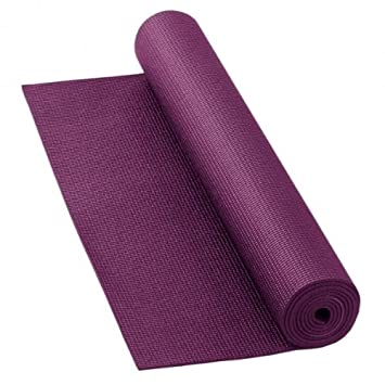 YOGA MAT - 6mm thick. Be kind to your knees AUBERGINE ...
