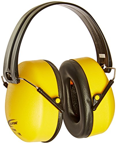 Califone Best Hearing Protectors, Bright Yellow Safety Color – 1301882