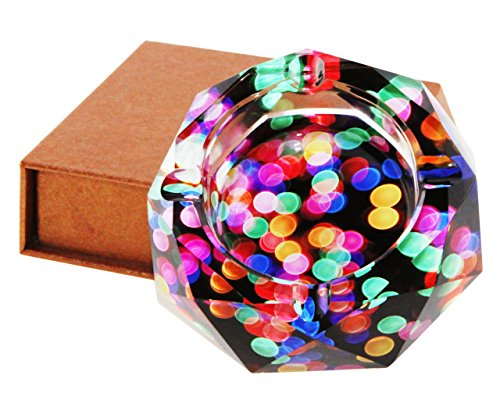 (Beautiful Colorful Pattern Transparent Octangle Shape Diameter 3.9