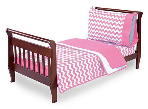 Baby Doll Bedding Chevron Toddler Bedding, Pink by BabyDoll Bedding   B00LIMG6F2