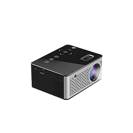 Amazon.com: Mini proyector LED T200 de bolsillo con botones ...