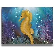 Janvonne 1620 Inch Underwater With Marine Horse Design Borderless Frame Photos Living Room Decoration