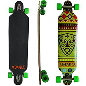 Rimable Drop-through Longboard (41 Inch, Africa Pattern)